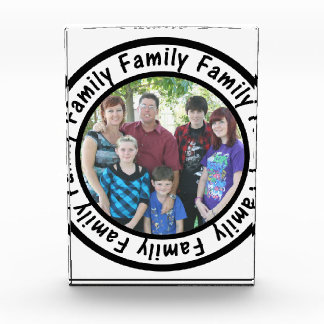 Family Frame Circle Add Your Photo Acrylic Award