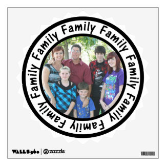 Family Frame Circle Add Your Photo Wall Decal