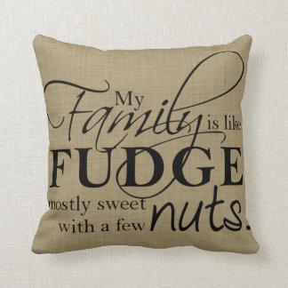Family & Fudge Throw Pillow