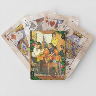 Family fun at Halloween Bicycle Playing Cards