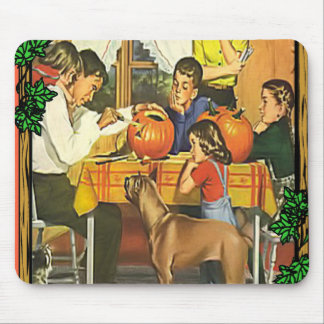 Family fun at Halloween Mouse Pad
