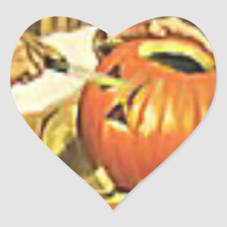Family fun at Halloween Heart Sticker