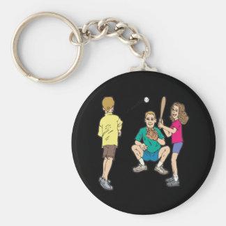 Family Fun Basic Round Button Keychain