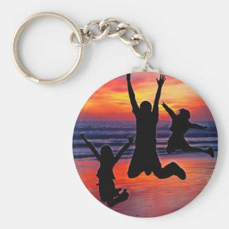 Family Fun, Father's Day Beach Jump Keychain