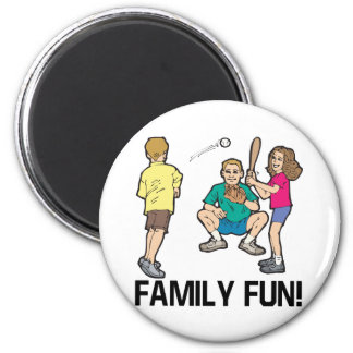 Family Fun 2 Inch Round Magnet