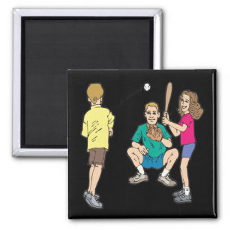 Family Fun 2 Inch Square Magnet