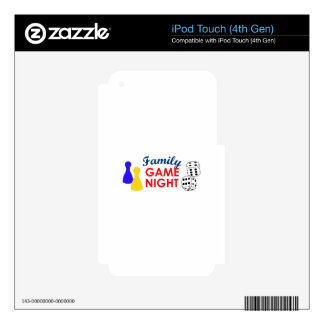 Family Game Night iPod Touch 4G Decal