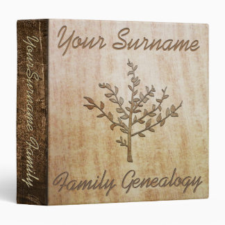 Family Genealogy 3 Ring Binder