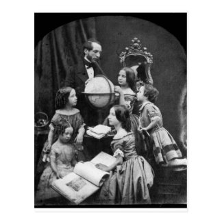 Family Geography Lesson ~ 1850 Postcard
