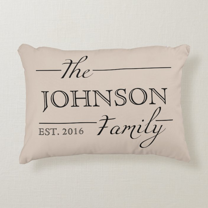 Family Gift Personalized Custom Pillow Home Decor Zazzle Com