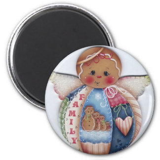 Family Gingerbread Angel Magnet