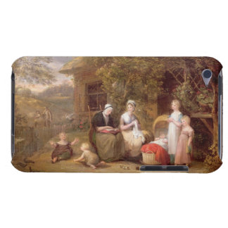 Family Group before a Thatched Cottage (oil on can iPod Touch Case
