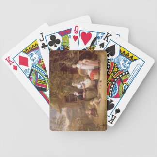Family Group before a Thatched Cottage (oil on can Bicycle Playing Cards