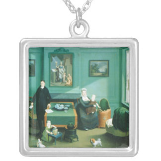 Family Group, c.1810 Silver Plated Necklace