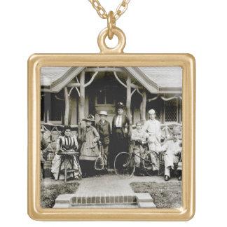 Family Group, c.1900 (b/w photo) Jewelry