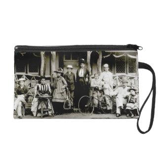 Family Group, c.1900 (b/w photo) Wristlet Purse