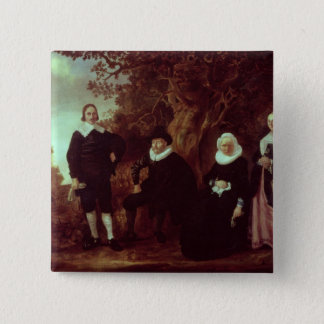 Family Group in a landscape Pinback Button