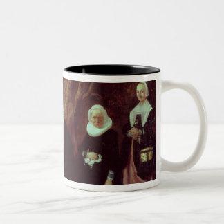 Family Group in a landscape Two-Tone Coffee Mug