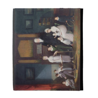 Family Group in an interior, c.1800 iPad Folio Covers