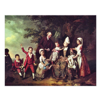 Family Group In Landscape,  By Johann Zoffany (Bes Personalized Invite