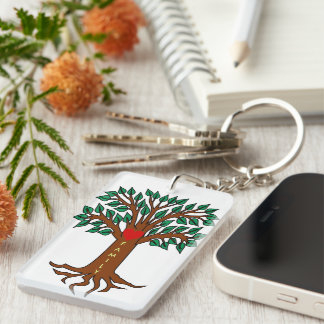 Family Grows in Different Directions Keychain