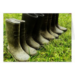 Family Gumboots for the Farm Greeting Cards