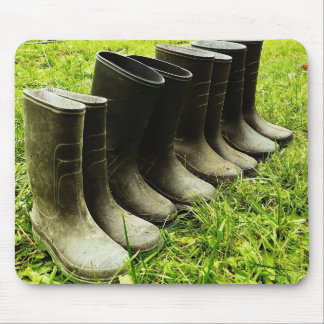 Family Gumboots for the Farm Mouse Pad