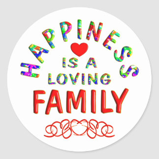Family Happiness Classic Round Sticker