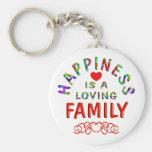 Family Happiness Key Chain