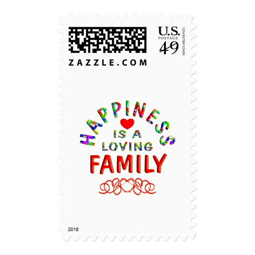 Family Happiness Postage Stamps