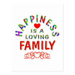 Family Happiness Postcard