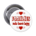 Family Hearts Pinback Buttons