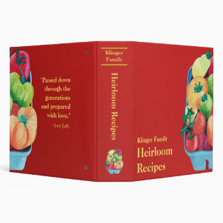 Family Heirloom Recipe Binder