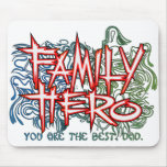Family Hero Mouse Pads