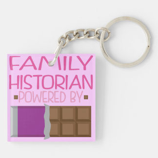 Family Historian Chocolate Gift for Her Keychain