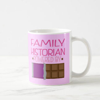 Family Historian Chocolate Gift for Her Mugs