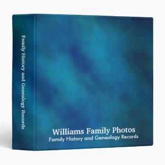 Family History/Genealogy Blue Velvet 3 Ring Binder