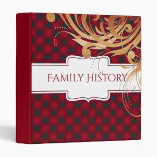 Family History Genealogy | Buffalo Plaid 3 Ring Binder