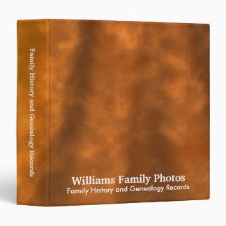 Family History/Genealogy Burnt Velvet 3 Ring Binder