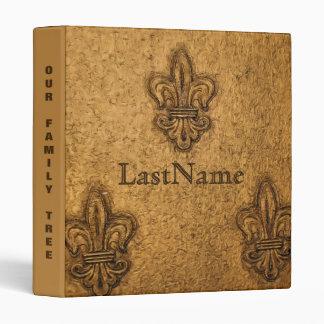 Family History Genealogy Custom | Fleur de Lis Binder