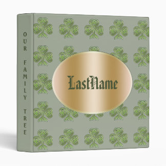 Family History Genealogy Custom Irish Celtic Binder