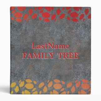 Family History Genealogy | Family Tree Rustic Look 3 Ring Binder