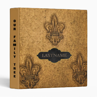 Family History Genealogy | Fleur de Lis 3 Ring Binder