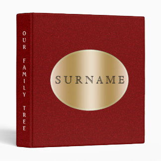 Family History | Genealogy Gold Red 3 Ring Binder
