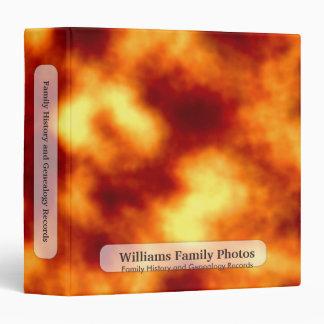 Family History/Genealogy Lava Explosion Binder