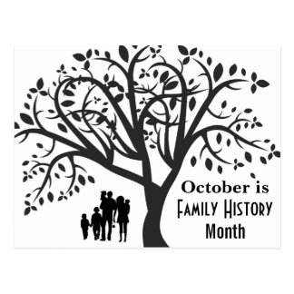 Family History Month Postcard