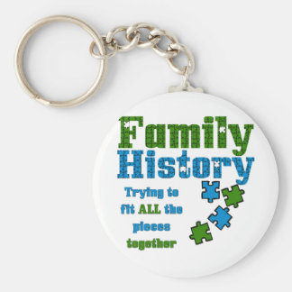 Family History Puzzle Basic Round Button Keychain