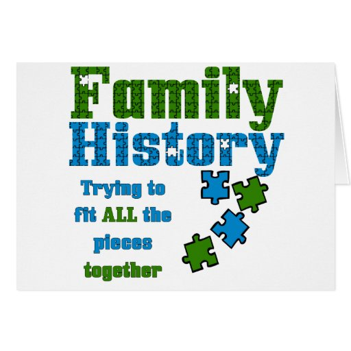 Family History Puzzle Greeting Card