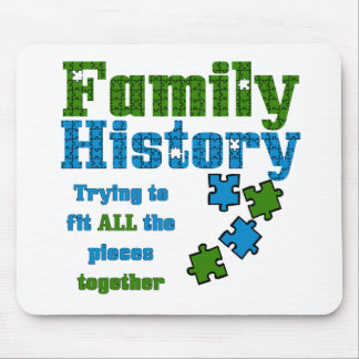 Family History Puzzle Mousepads