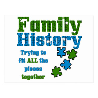 Family History Puzzle Postcard
